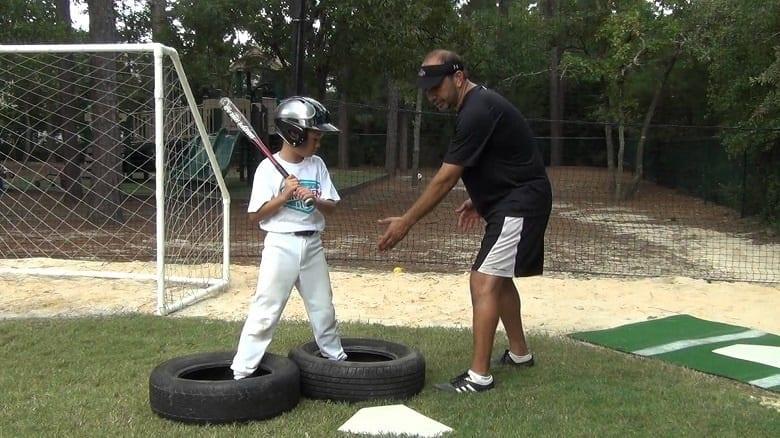 Baseball Tire Traning Practice