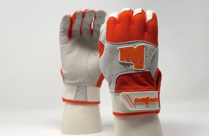 Orange Batting Gloves