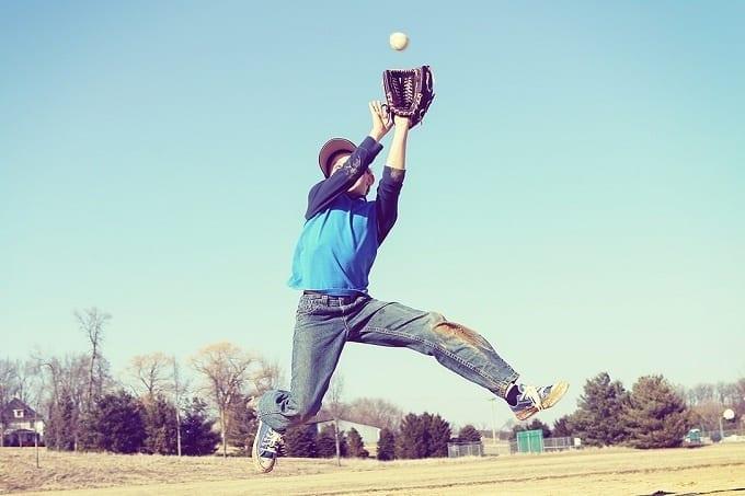 Boy Learning Baseball