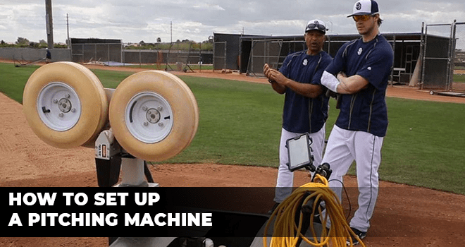 How to Set Up a Pitching Machine