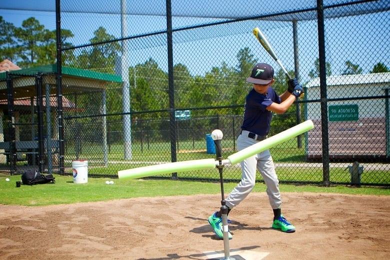 baseball on a tees